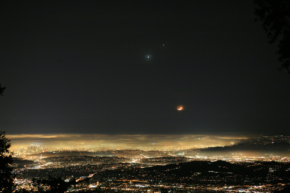 Planetary Conjunction and Crescent Moon