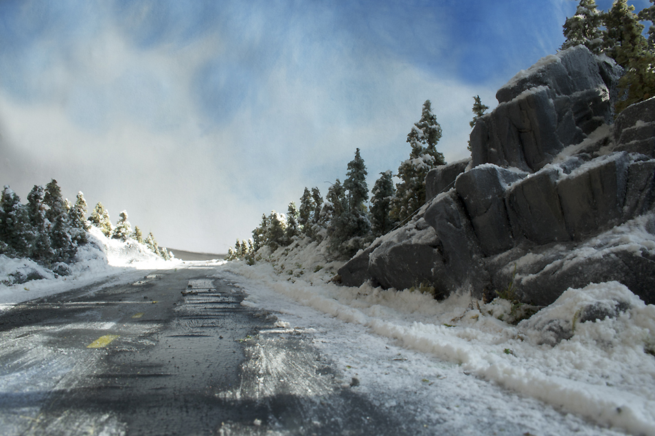 Northern Highways & Rockcuts: Miniature Photos by Adam Makarenko