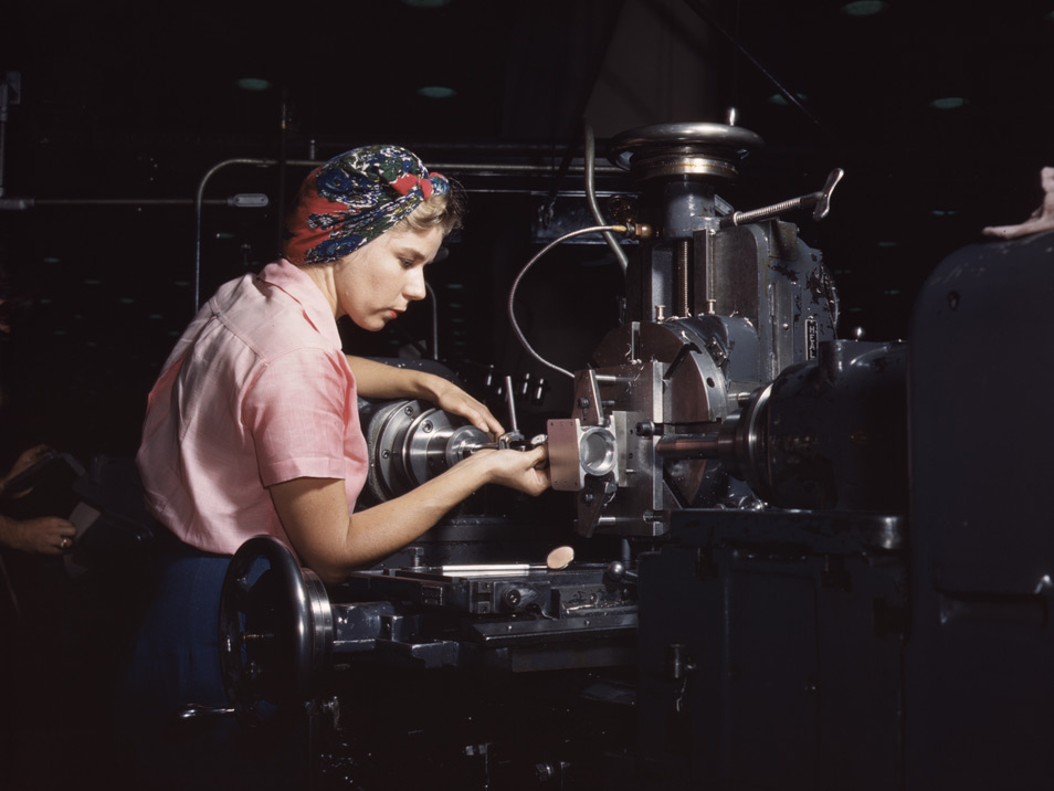 PDN Photo of the Day | Photo by Alfred T. Palmer. Woman machinist ...