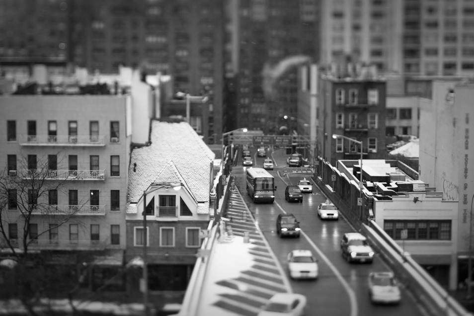 Traffic approaching the Queensboro Bridge.