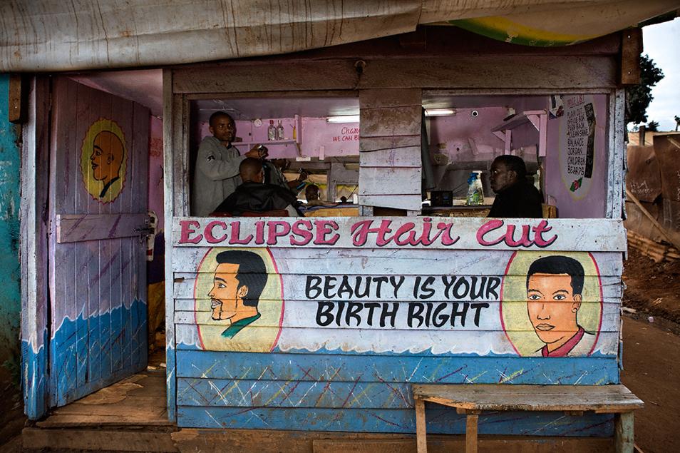 Nairobi Merchants by Steve Bloom