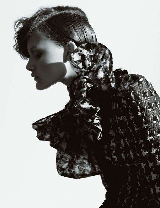 British fashion photographer Olivia Beasley shot this series using pieces from the 2009 Fall / Winter Alexander McQueen collection for Soma magazine.