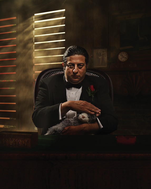 A portrait of Eugene Mirman, the Godfather of Web-based comedy, by Matt Hoyle.