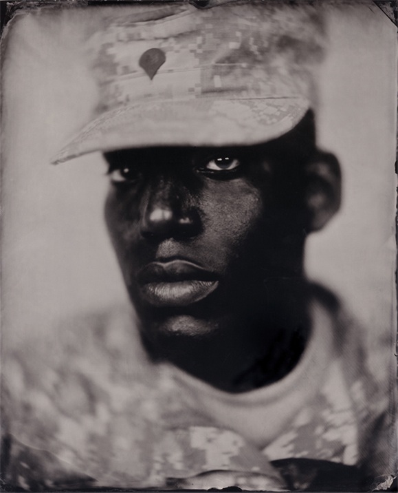 Today's Soldier, Seen In Ambrotype