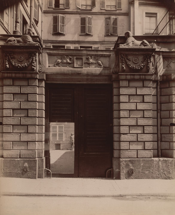 """Maison où Mourut Voltaire en 1778, 1 rue de Beaune,"" 1909. Courtesy of The Museum of Modern Art, New York. Abbott-Levy Collection. Partial gift of Shirley C. Burden."