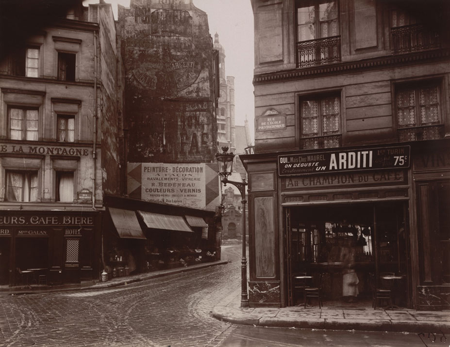 """Rue de la Montagne-Sainte-Geneviève,"" June 1925. Courtesy of The Museum of Modern Art, New York. Abbott-Levy Collection. Partial gift of Shirley C. Burden."