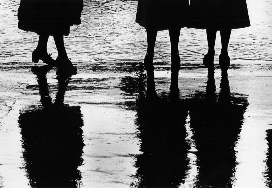"Gordon Parks, ""Reflection of Women's Dresses, 1951."" © The Gordon Parks Foundation."