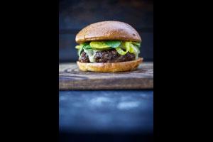 Venison burger © Jody Horton