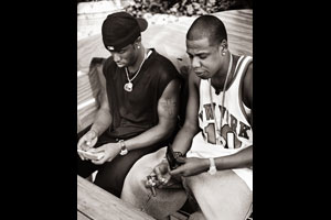 """Jay Z & Sean Combs, New York City, NY,"" 2001 © Mark Seliger"