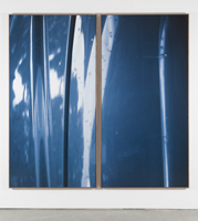 """Blue Diptych,"" 2012. © Jan Dibbets/Courtesy Gladstone Gallery, New York and Brussels"