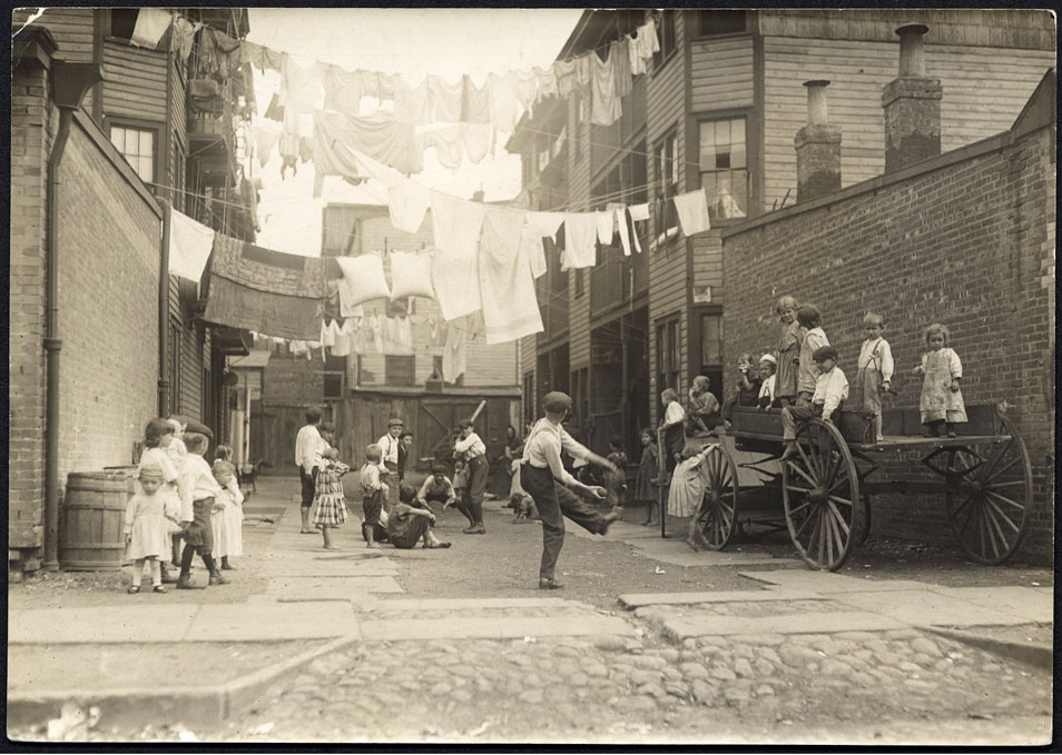 """Playground in Mill Village,"" 1909. © Lewis W. Hine/Museum Collection"