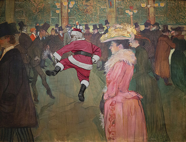 Pdn photo of the day santa and toulouse lautrec s at for Toulouse lautrec works