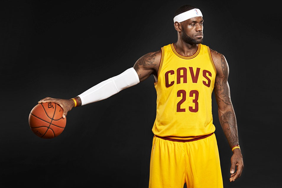 Lebron James photographed for the December 2014 issue of SLAM magazine