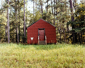 8-WilliamChristenberry-RedBuildinginForest_1998_colorprint_20-x24-_Ed.-of-25_CollectionoftheArtist-f