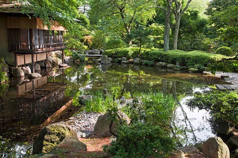 larry lederman - Japanese Garden Stone Bridge